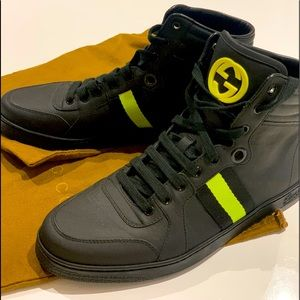 New Gucci limited edition high tops never worn.